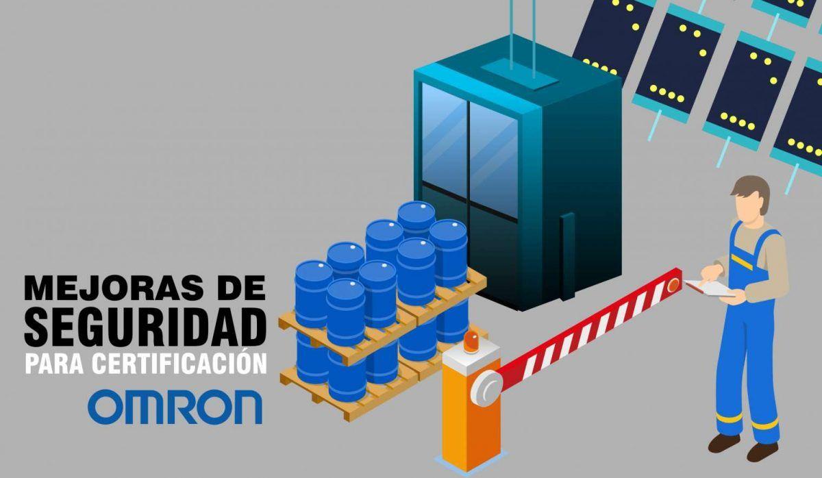 Mejoramos el sistema seguridad para certificación OMRON en una empresa de productos químicos