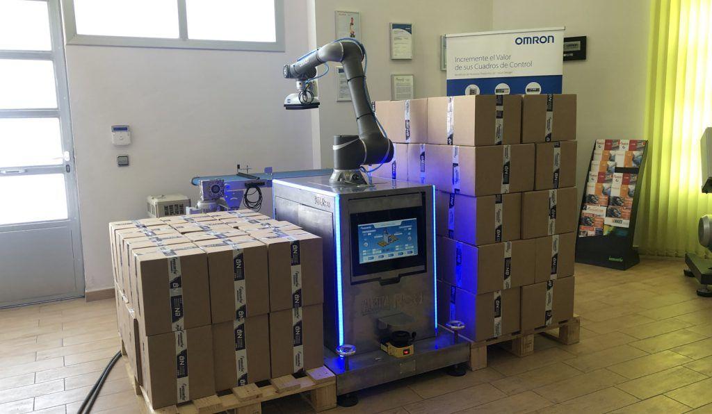 robot colaborativo paletizado cajas 1024x596 - ¿Buscas una solución eficiente para tus procesos de paletizado?